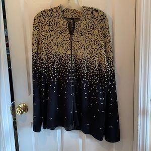 Berek XL zip front sweater